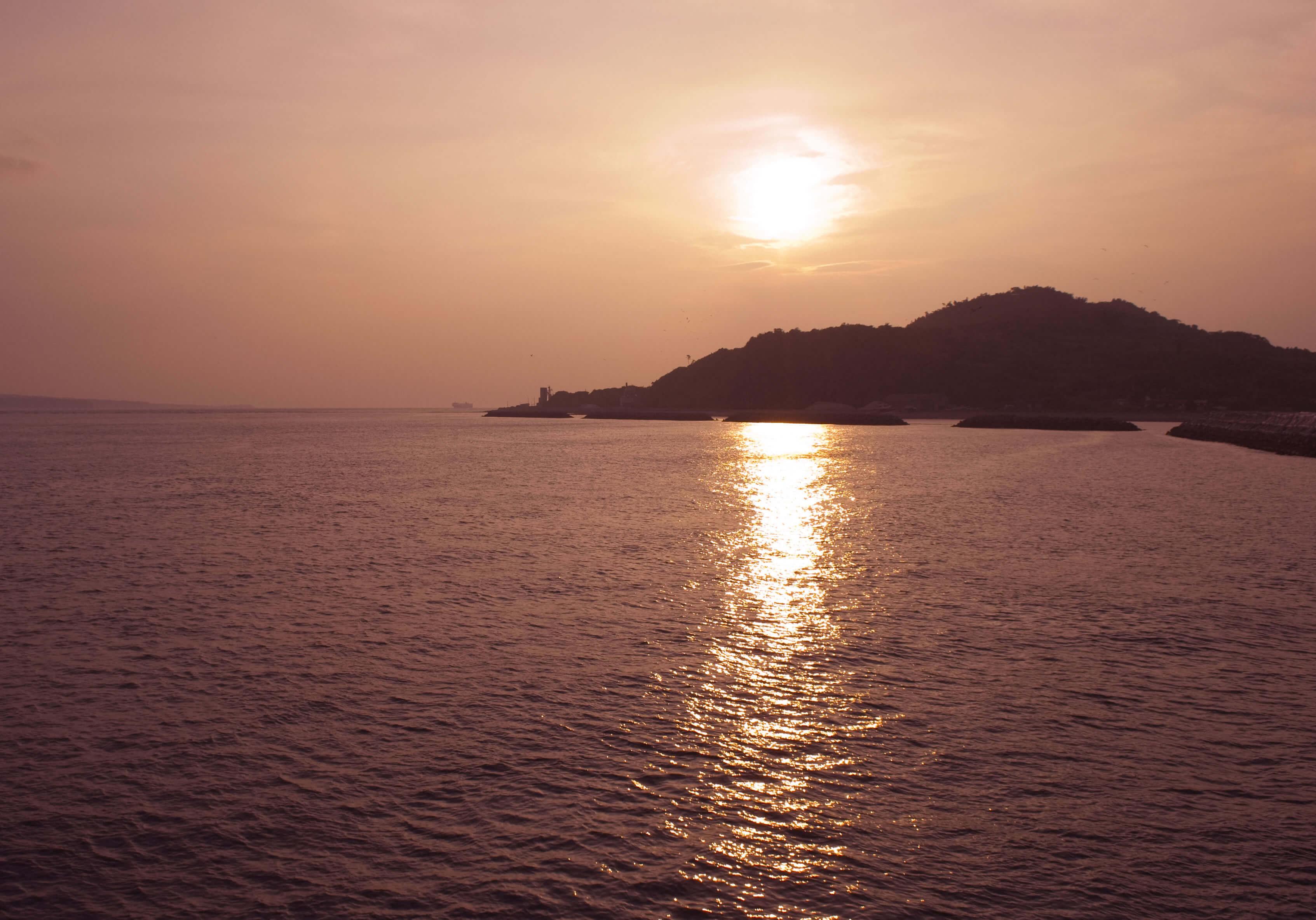 姫島の夕日