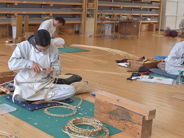 大分県立竹工芸訓練センター オリジナルの作品づくり