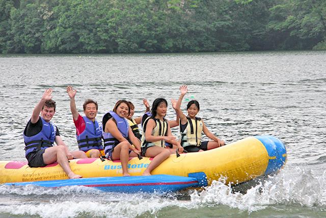 耶馬溪アクアパーク バナナボート