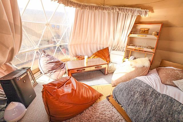 湯布院温泉郷グランピングCOMOREBI ドームテント