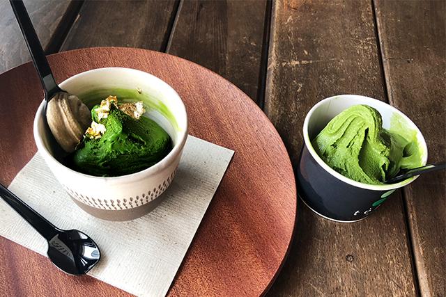 湯布院 抹茶ジェラート専門店 テ・ラート 季節限定の和紅茶